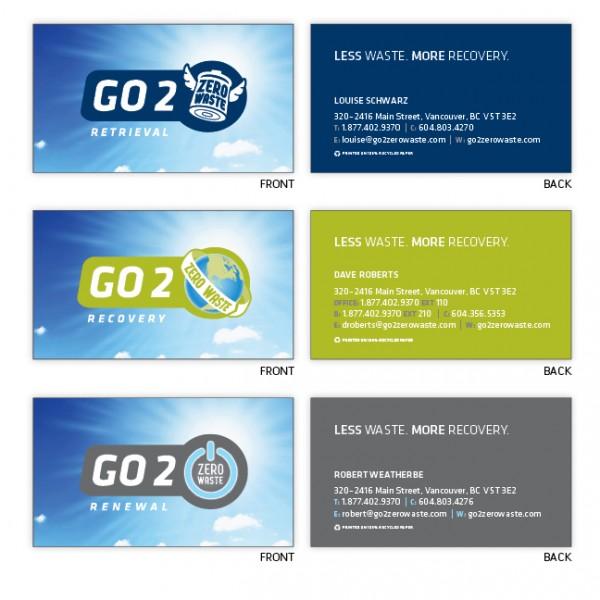 Go 2 zero waste stationery sr creative for Go business cards